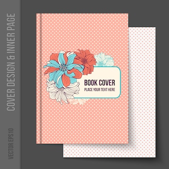 Conception de la couverture du livre floral
