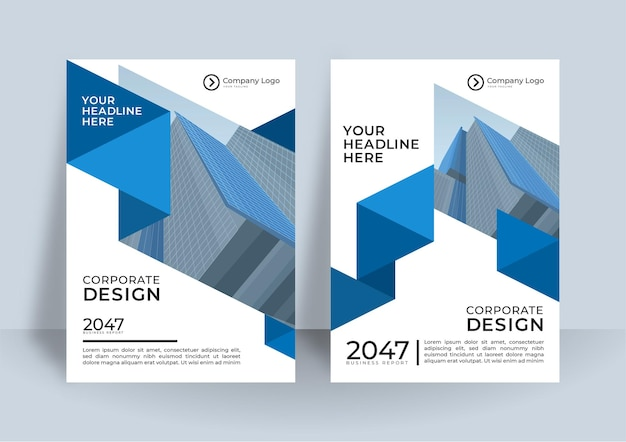 Conception de la couverture d'entreprise ou arrière-plan du modèle de brochure pour la conception d'entreprise. modèle de mise en page de dépliant d'affaires moderne au format a4.
