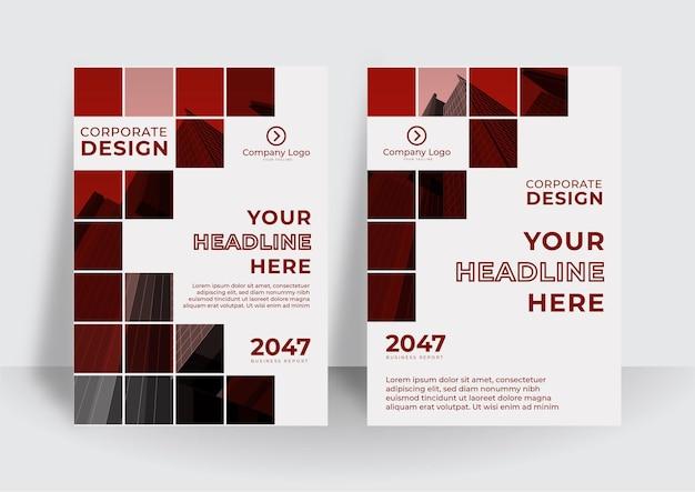 Conception de la couverture d'entreprise ou arrière-plan du modèle de dépliant pour la conception d'entreprise. modèle de profil d'entreprise moderne au format a4
