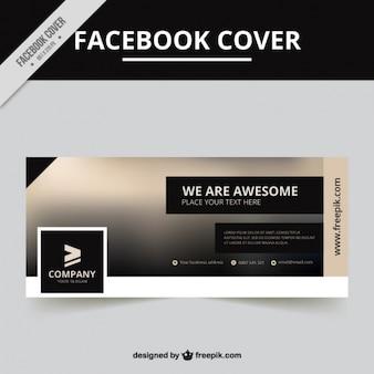 Conception de la couverture facebook brouillé