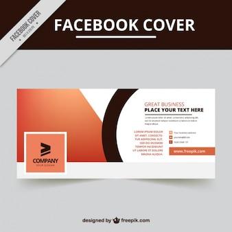 Conception de la couverture facebook géométrique