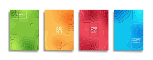Conception de couverture de fond de motif de ligne abstraite de couleur dégradé lumineux. design d'arrière-plan moderne avec des couleurs vibrantes à la mode et vives. bleu violet rouge orange vert affiche modèle de couverture de vecteur d'affiche.