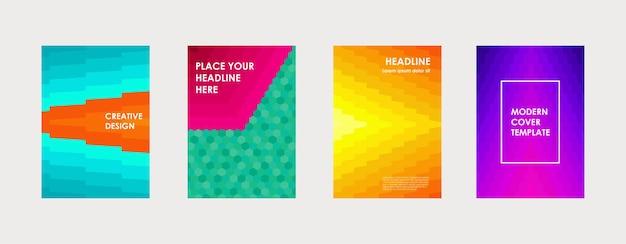 Conception de couverture de livre coloré affiche magazine de brochure de rapport annuel d'entreprise