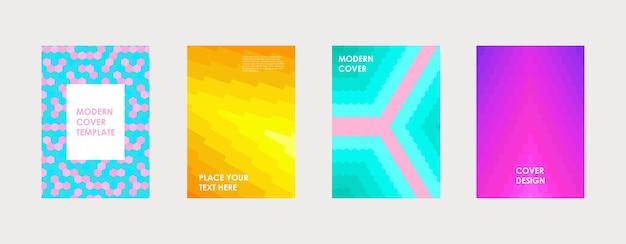 Conception de couverture de livre coloré affiche rapport annuel d'entreprise brochure magazine flyer maquette
