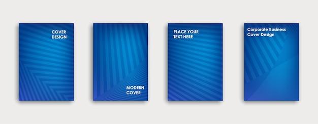 Conception de couverture de livre colorée. affiche, rapport annuel d'entreprise, brochure, magazine, maquette de flyer. modèle a4 bleu. dégradés de demi-teintes. motif géométrique. vecteur.