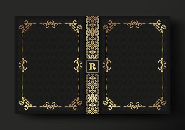 Conception de couverture de livre ornemental de luxe