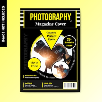 Conception de couverture de magazine de photographie
