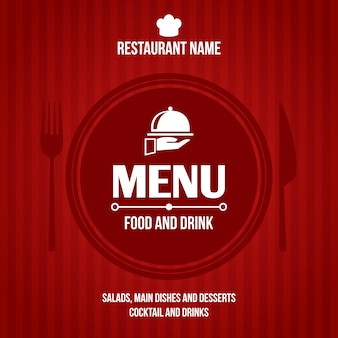 Conception de couverture de menu de restaurant