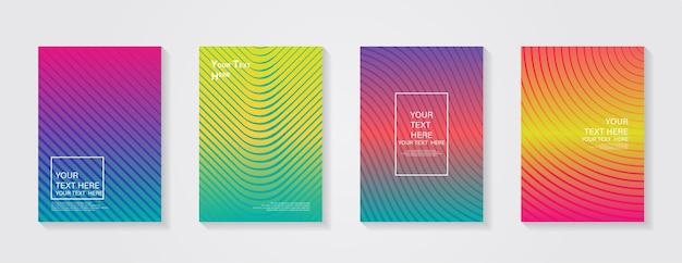 Conception de couverture moderne minimale dégradés colorés dynamiques futurs motifs géométriques bleu rose