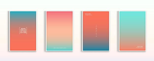 Conception de couverture moderne minimale dégradés colorés dynamiques futurs motifs géométriques