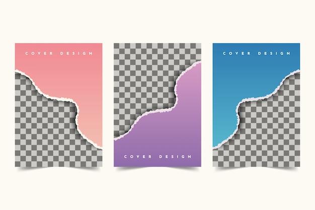 Conception de couverture en papier déchiré