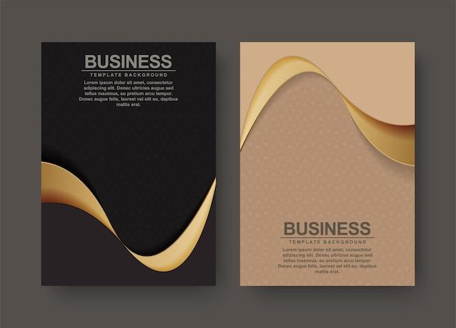 Conception de couverture premium géométrique avec des couleurs marron et noir