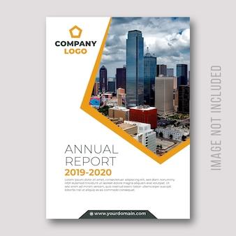 Conception de la couverture des rapports annuels d'entreprise