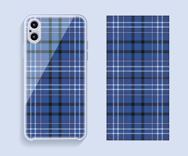 Conception de couverture de smartphone sur modèle sans couture de géométrie