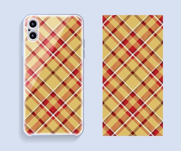 Conception de couverture de téléphone portable. modèle de cas de smartphone.
