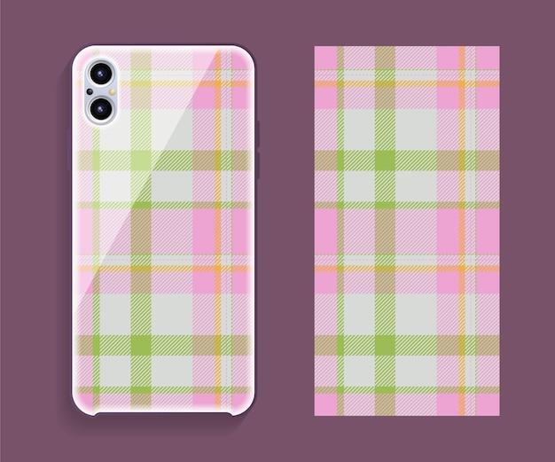 Conception de couverture de téléphone portable. modèle de modèle de cas de smartphone.