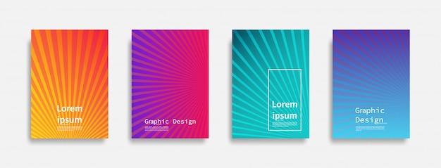 Conception de couvertures minimale. conception de lignes colorées. futurs motifs géométriques.