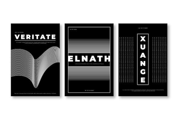 Conception de couvertures minimalistes en noir et blanc