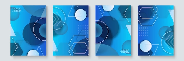 Conception de couvertures à la mode cool. modernisme coloré. composition de formes géométriques minimales. motifs futuristes. vecteur de couches de conception de style bauhaus