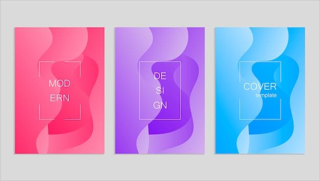 Conception de couvertures de vecteur abstrait minimaliste