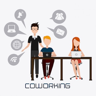 Conception de coworking.