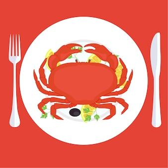 Conception crab plaque de fond