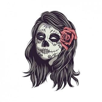 Conception de crâne mexicain