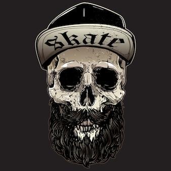 Conception de crâne de patineurs