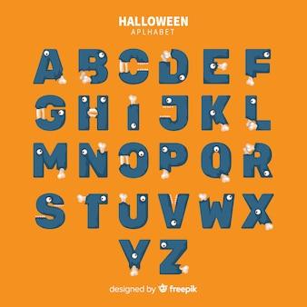Conception créative de l'alphabet d'halloween