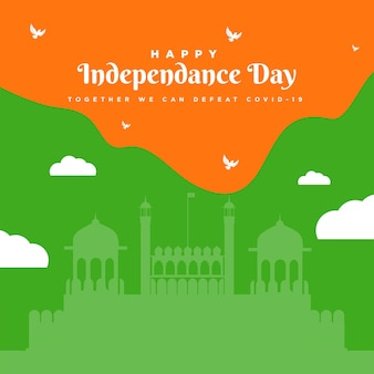 Conception créative de bannière de fête de l'indépendance indienne heureuse