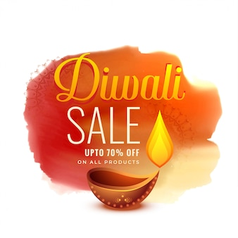 Conception créative de bannière de vente festival diwali