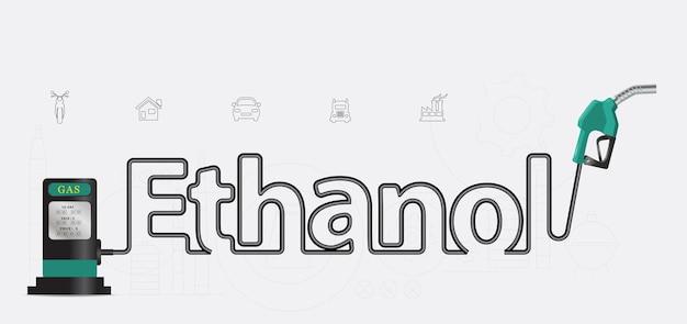 Conception créative de la buse de pompe typographique à l'éthanol