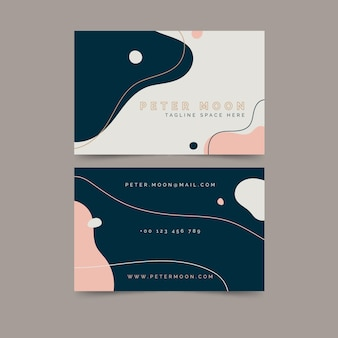 Conception créative de carte de visite peinte