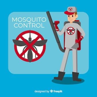 Conception créative de contrôle des moustiques