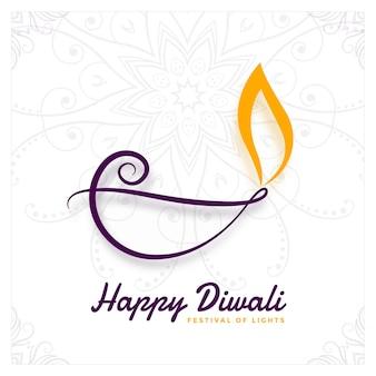 Conception créative de diya pour le festival de diwali