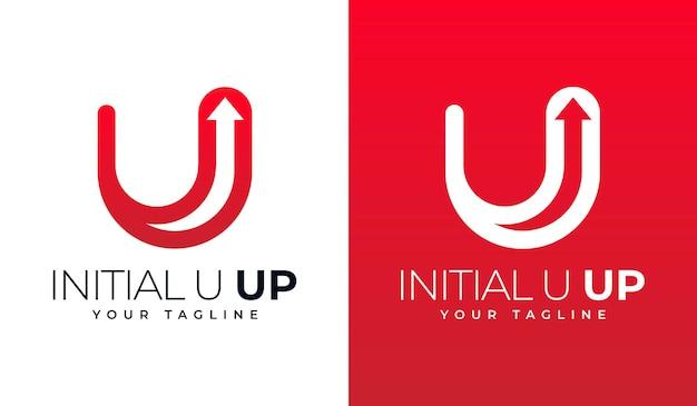 Conception créative du logo initial u up