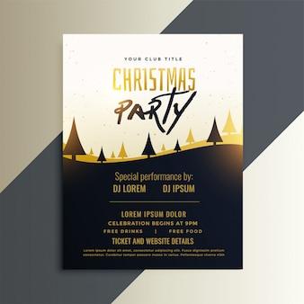Conception créative de flyer invitation fête de noël