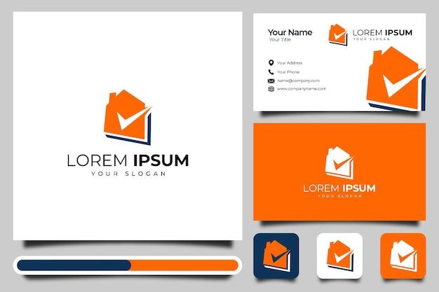 Conception créative de logo de coche de maison et modèle de carte de visite