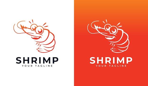 Conception créative de logo de crevettes