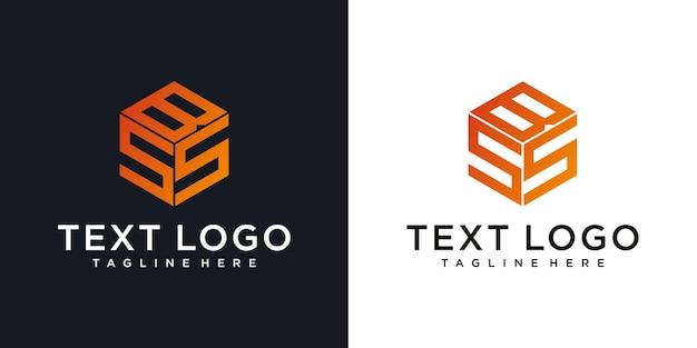 Conception créative de logo de lettre bss conception d'icône bss