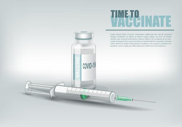 Conception créative pour le vaccin contre le coronavirus