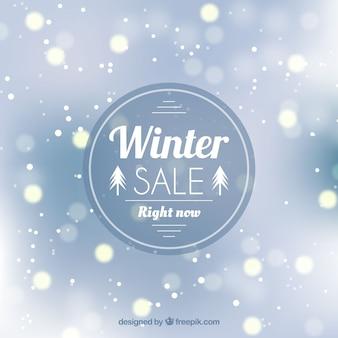 Conception créative de vente d'hiver
