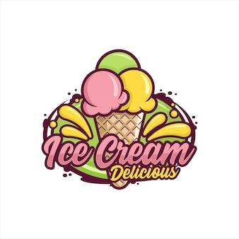 Conception de crème glacée premium