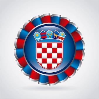 Conception de la croatie sur l'illustration vectorielle fond gris