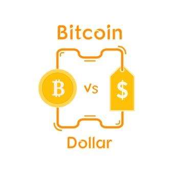 Conception de crypto-monnaie bitcoin