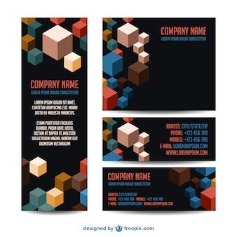 Conception de cube d'identité d'entreprise