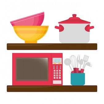 Conception de cuisine à domicile.
