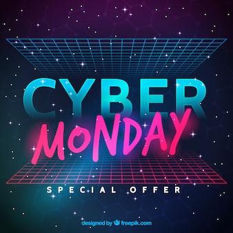 Conception cyber lundi futuriste
