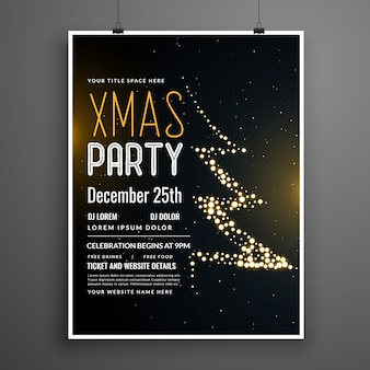 Conception d'affiche de fête de Noël créative en couleur noire