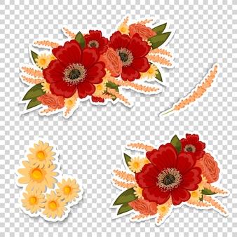 Conception d'autocollant floral